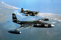 McDonnell FH2 Banshee and Vought F4U Corsair
